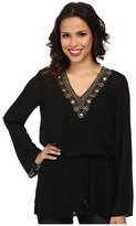 MICHAEL Michael Kors Embellished Top/Draw String
