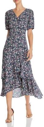 Nanette Lepore nanette Floral Midi Wrap Dress