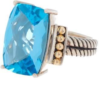 Effy 18K Gold & Sterling Silver Blue Topaz Ring - Size 7