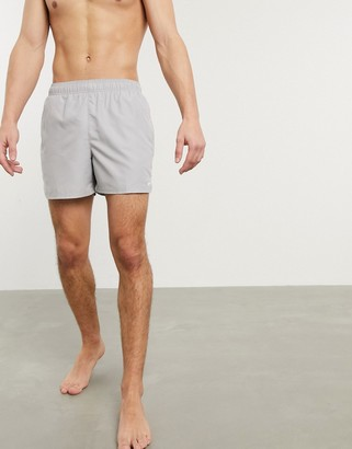 Nike Swimming 5inch Volley shorts in light gray