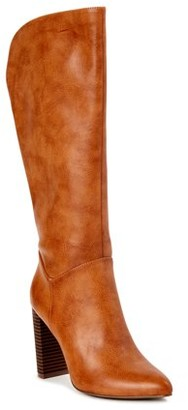 Scoop Womens Joey Knee-High Heeled Boots