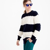 J.Crew Italian cashmere cable sweater in stripe
