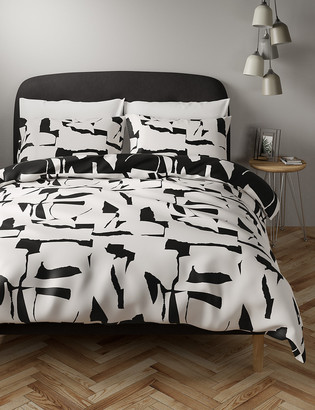 Marks and Spencer Cotton Mix Abstract Bedding Set