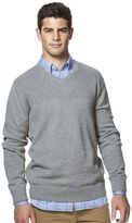 Chaps Big & Tall Classic-Fit Solid V-Neck Sweater