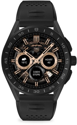 Tag Heuer Connected Modular Black Ceramic, Titanium & Rubber Strap Smartwatch