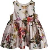 Marmellata Butterfly Print Sleeveless Dress - Baby Girls
