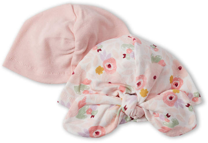 be2ee3d27 Chick Pea (Newborn Girls) Two-Pack Floral & Solid Turban Hats