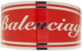 Balenciaga Red and Silver Badge Bracelet