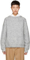 Acne Studios Grey Mohair Dramatic Sweater