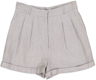 Richard Nicoll Silver Viscose Shorts