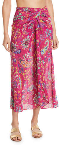 Etro Printed Wrap Coverup Skirt