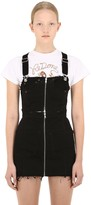 RE/DONE Re Done ZIPPED DENIM OVERALLS MINI DRESS