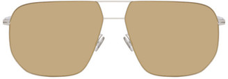 Mykita Silver and Gold Hiroto Sunglasses