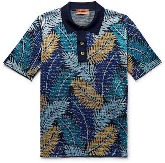 Missoni Slim-Fit Cotton-Blend Jacquard Polo Shirt