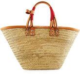 Balenciaga Bistro Panier Small Straw Tote Bag
