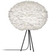 EOS Umage UMAGE - Large White Feather Black Tripod Table Lamp - White/Black