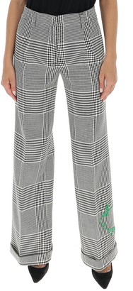 Off-White Houndstooth Pattern Pants