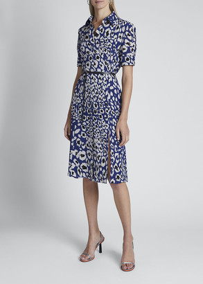 Altuzarra Leopard-Print Belted Shirtdress