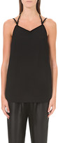 Isa Arfen Tie neck crepe and wool-blend camisole