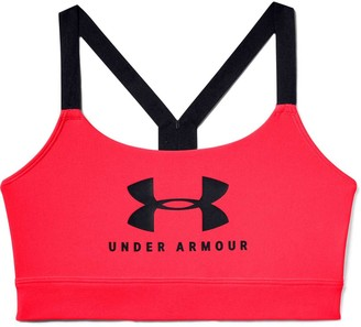 Under Armour Womens Mid Sportstyle Graphic Sports Bra