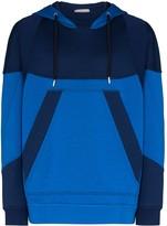 Alexander McQueen panelled logo print hoodie