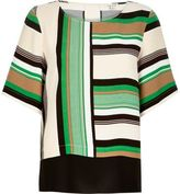 River Island Womens Green stripe t-shirt