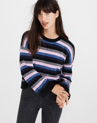 Madewell Cardiff Striped Crewneck Sweater in Coziest Yarn