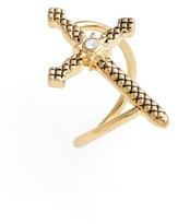 Luv Aj Women's Serpent Cross Ring