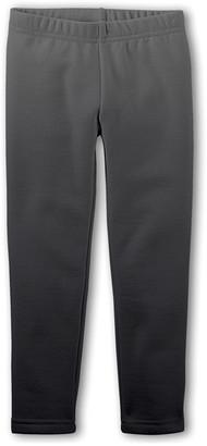 Emma & Elsa Girls' Leggings - Gray Ombre Fleece-Lined Leggings - Toddler