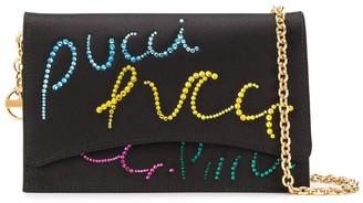 Emilio Pucci Pucci Pucci embellished shoulder bag