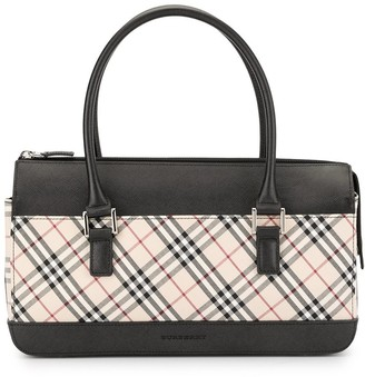 Burberry Pre Owned Check tote bag