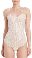 Flora Nikrooz Semi-Sheer Lace Teddy
