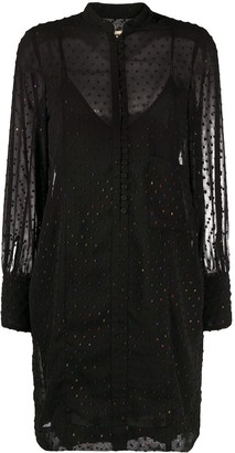 Zadig & Voltaire Layered Sheer Dress
