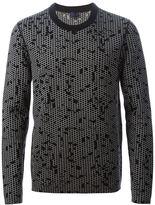 Lanvin honeycomb intarsia jumper