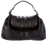 Marni Fold-Over Leather Hobo