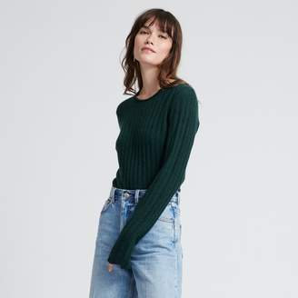 Naadam Cashmere Ribbed Sweater Forest Green