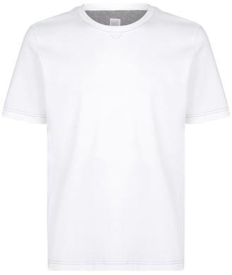 Eleventy Contrast-Stitch T-Shirt