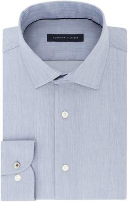 Tommy Hilfiger Men's Dress Shirt Slim Fit Stretch Solid