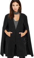 MinkPink Mink Pink Girl Boss Washed Black Cape
