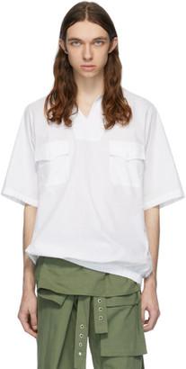 St-Henri White Sky Collared Short Sleeve Shirt