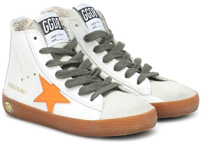 Golden Goose Kids Francy leather sneakers