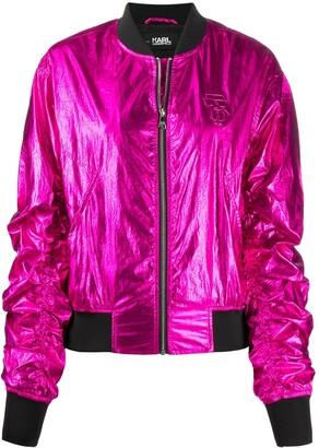 Karl Lagerfeld Paris Ikonik metallic bomber jacket