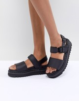 Dr. Martens Voss black Leather Flat Chunky Sandals