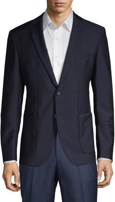 HUGO BOSS Notch Lapel Wool-Blend Sportcoat