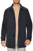 Cole Haan Spread Collar Buttoned Rain Coat