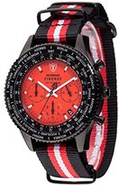 DETOMASO Men's Quartz Stainless Steel and Nylon Casual Watch, Color:Two Tone (Model: DT1070-A)