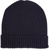 Barneys New York Men's Rib-Knit Beanie-NAVY