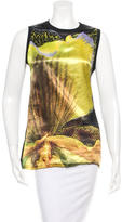 Givenchy Sleeveless Digital Print Top