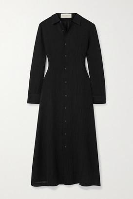 Mara Hoffman + Net Sustain Cinzia Crinkled Organic Linen And Cotton-blend Gauze Maxi Dress - Black