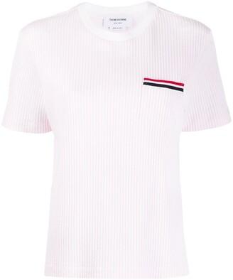 Thom Browne Ribbed Knit T-Shirt